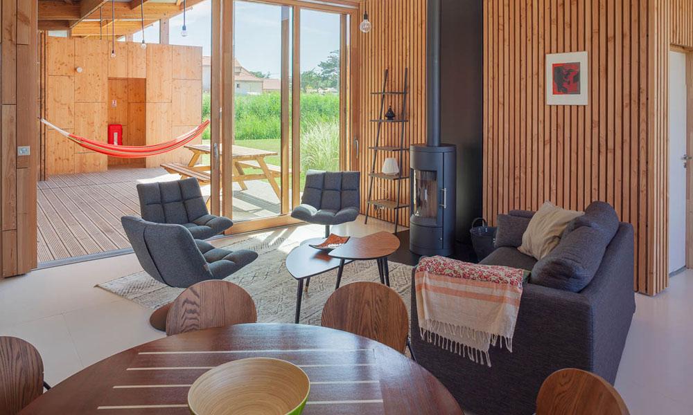 Salon Cuisine Villa ponton écolodge