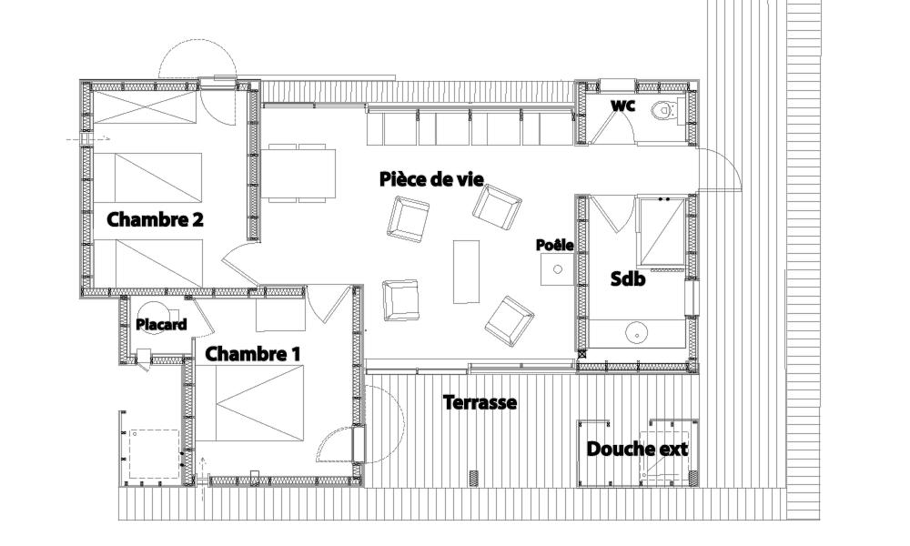 Plan de la villa ponton 1