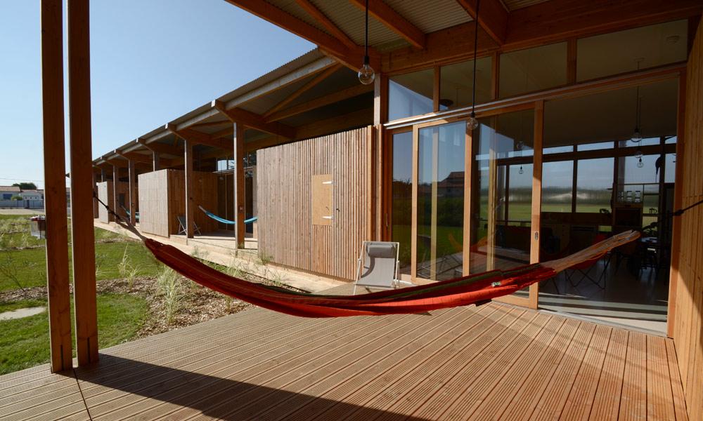 Villa ponton terrasse écolodge
