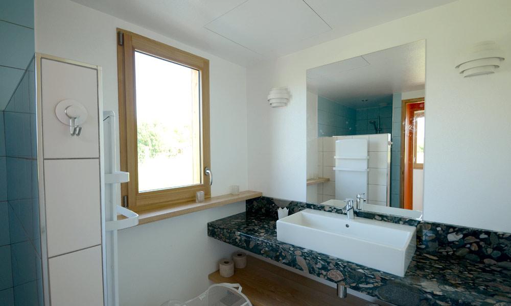 Salle de bain villa ponton écolodge n°2