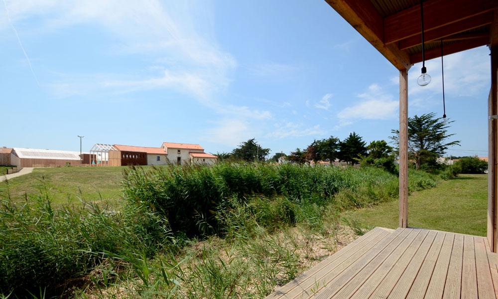 Terrasse commune villa ponton n°1