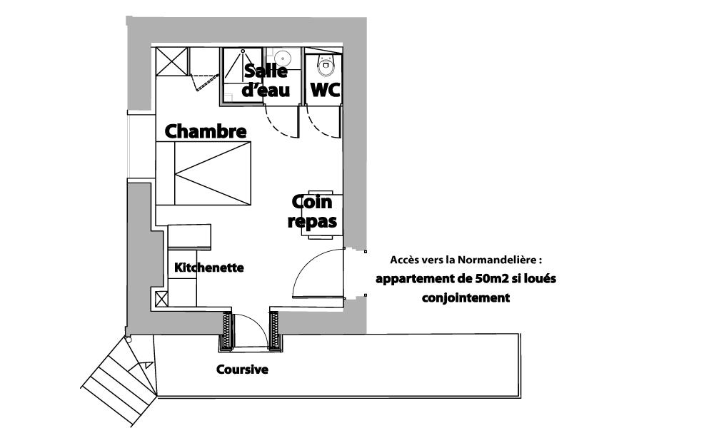 Plan chambre le Marais Girard