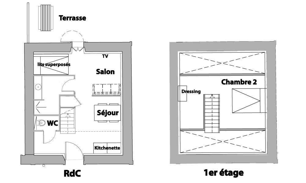 La ferme du marais girard studio la par e 37 m2 - Plan de studio avec mezzanine ...