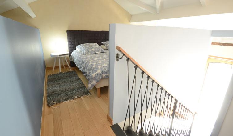 Voir Chambre « La Parée » – 37 m2 avec mezzanine - 2/4 pers.
