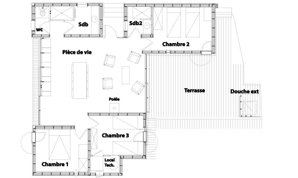 Plan de la villa pontons 2