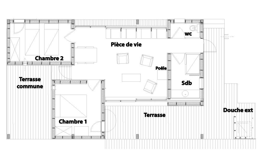 Plan de la villa pontons 4